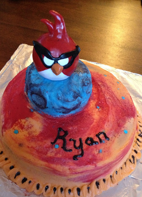 Angry Bird Space Cake Topper