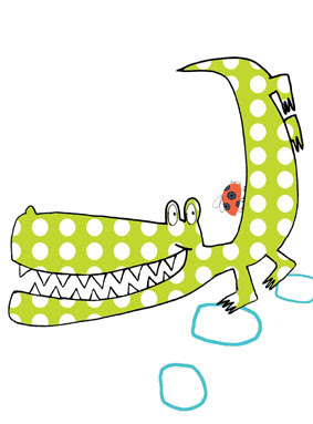 crocodile limited edition prints greeting cards stationery Liz and Pip Ltd