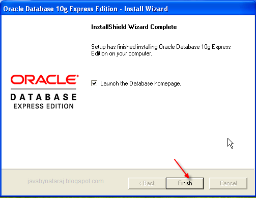 Installing Oracle Database 10g Express Edition_011