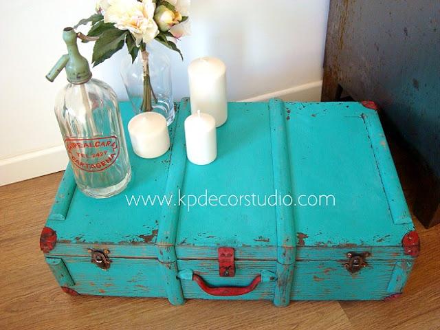 maleta antigua para boda vintage