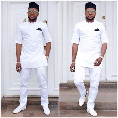 Kcee wearing traditional