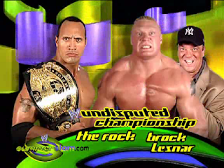 WWE SummerSlam 2002 Rock vs Brock Lesnar Paul Heyman Undisputed WWE Championship