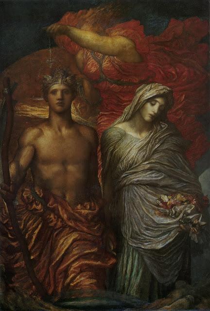 Judgement,George Frederick Watts, symbolist painting