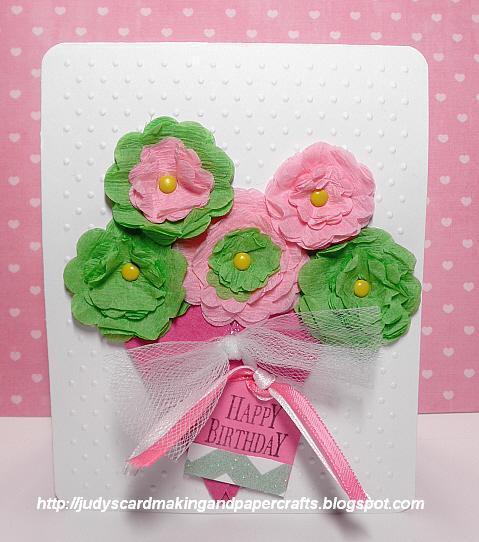 Judys handmade creations crepe paper flower card crepe paper flower card mightylinksfo