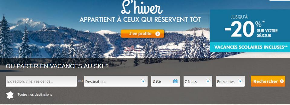 Promo Premiere Minute Ski, réserver son séjour au ski pour payer moins cher