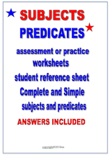 photo of Subjects and Predicates PDF TeachersPayTeachers.com