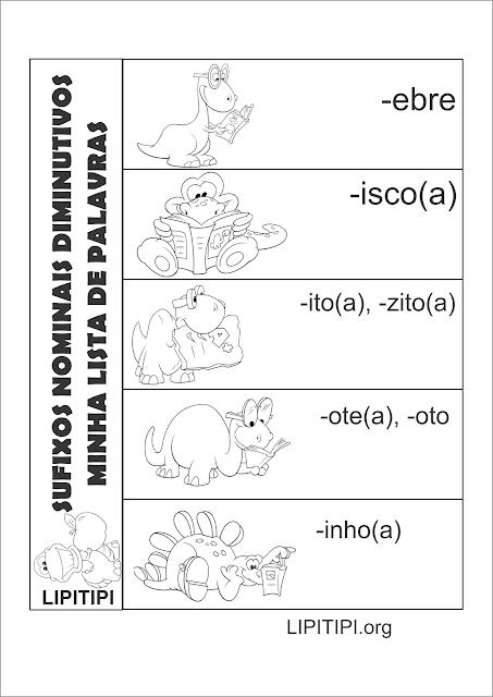 Atividade  Interativa Sufixos Nominais Diminutivo