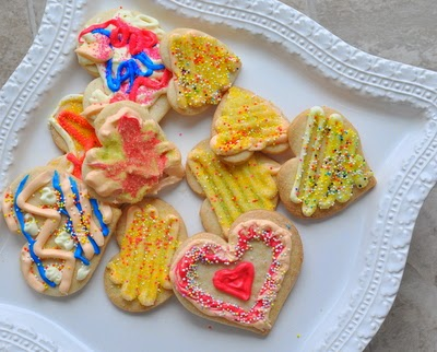 No-Chill Cutout Sugar Cookies, here for Valentine's Day. Just mix and roll, no need to wait for the dough to chill. Easy to handle, great-tasting cookies.