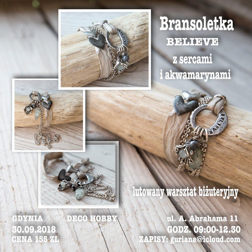 DECO HOBBY Gdynia Bransoletka BELIEVE