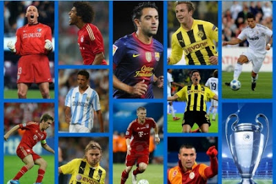 The champions league ideal 11 team selection for season 2012 2013