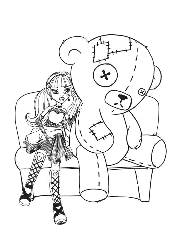 Monster High dibujos para imprimir y colorear: Draculaura