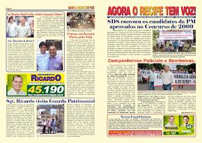 Jornal com um resumo de lutas do Sgt. Ricardo parte 1