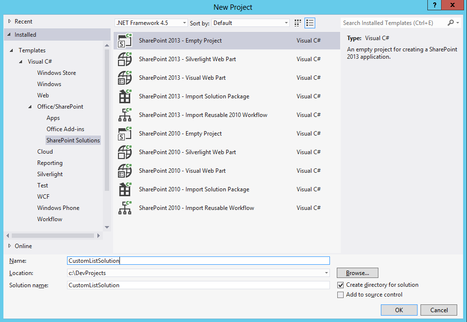 Sharepoint Expert Solutions Creating A Custom List Using Visual