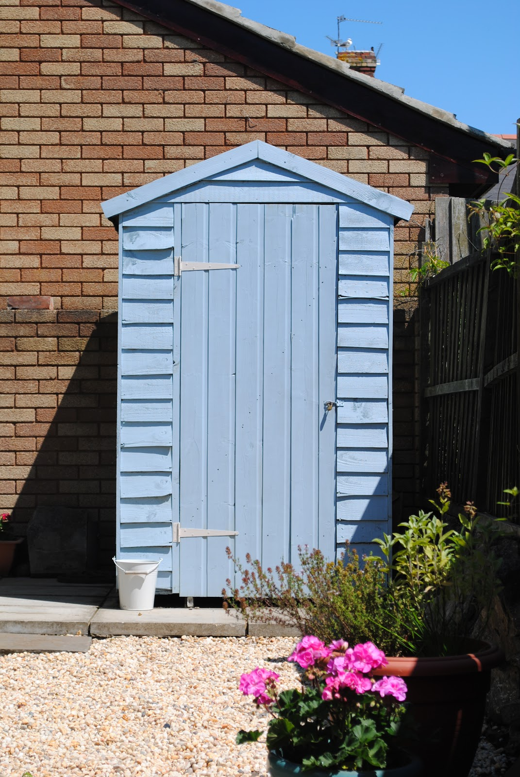 beautiful square feet our pretty blue shed