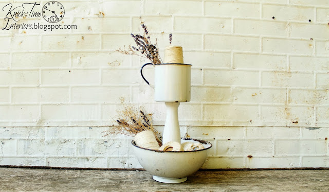 Repurposed Enamelware Bowls Tiered Stands via KnickofTimeInteriors.blogspot.com