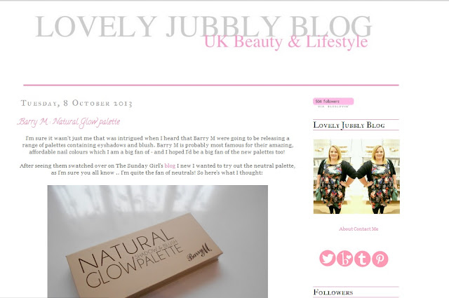 Beauty Blog Spotlight- Lovely Jubbly Blog