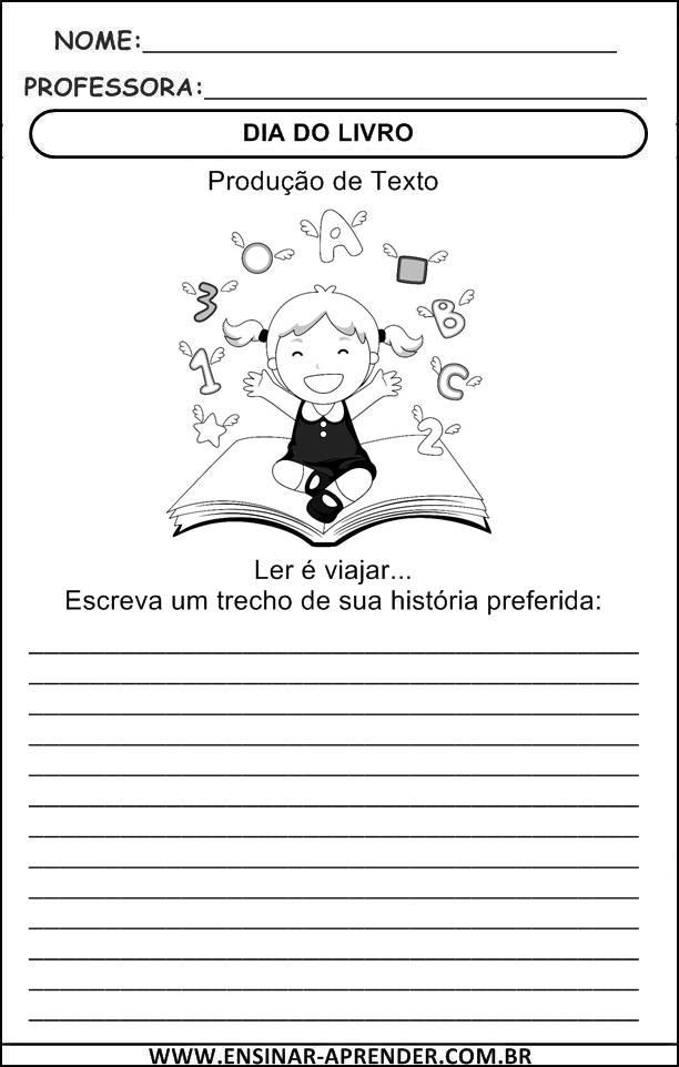 Extremamente DIA DO LIVRO – ATIVIDADES INÉDITAS PARA EDUCAÇÃO INFANTIL E ENSINO  LP08