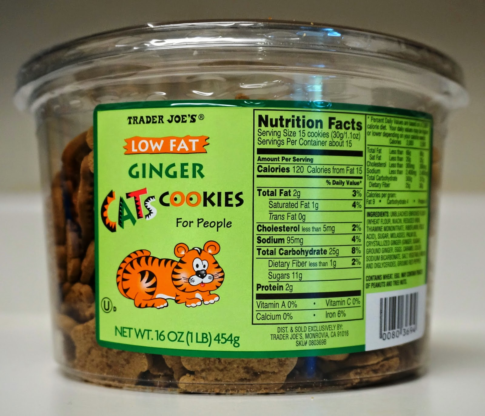 ... Trader Joe's: Trader Joe's Low Fat Ginger Cats Cookies For People