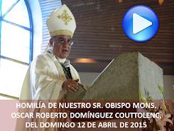 VIDEO DE LA HOMILÍA DEL SR OBISPO, DEL DÍA 12 DE ABRIL DE 2015
