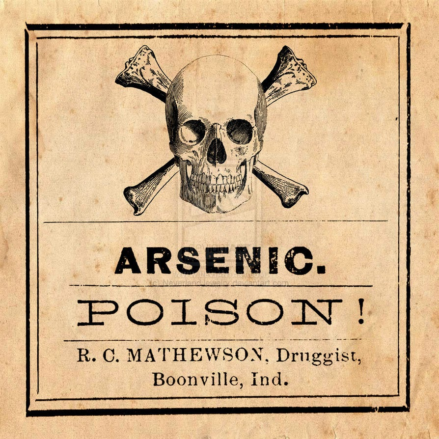 Arsenic label | Etsy