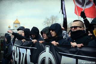 Русский Марш 2012, НС колонна. Крупным планом