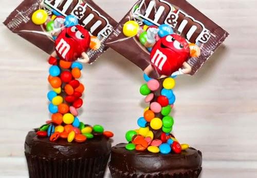 Cupcakes de m&m