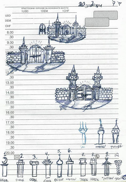 Castle Towers Drawings