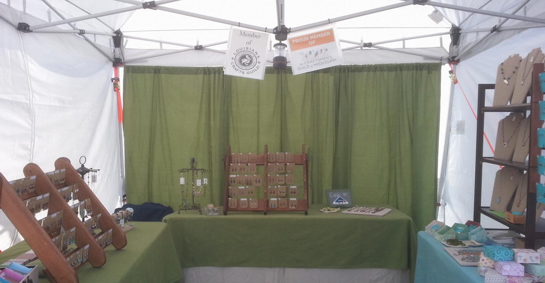 Libellula Jewelry & Cicada Silver Tent_Bayou Booglaoo 2014