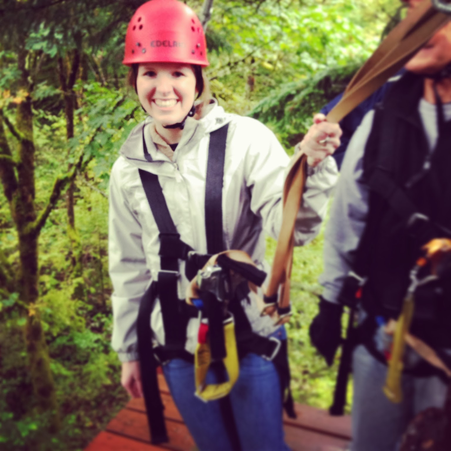 Kara got to Zip Line near the Hood River