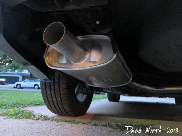 install new muffler, exhaust