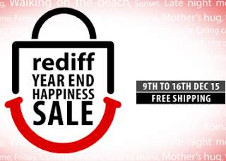 Rediff.com : Get Happiness Sale from 9th -16th Dec with Free Shipping on Rediff Year End Sale