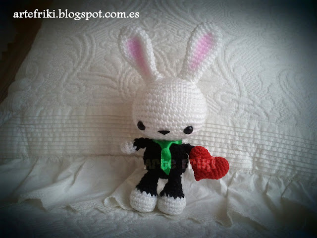 conejo amigurumi crochet doll ganchillo muñeco bunny cute heart