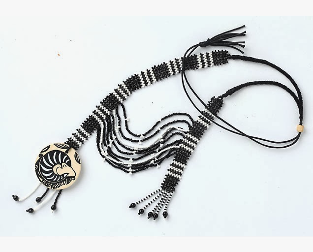 Hand-painted Pazyryk Tatoo Pendant by jaya-online.com