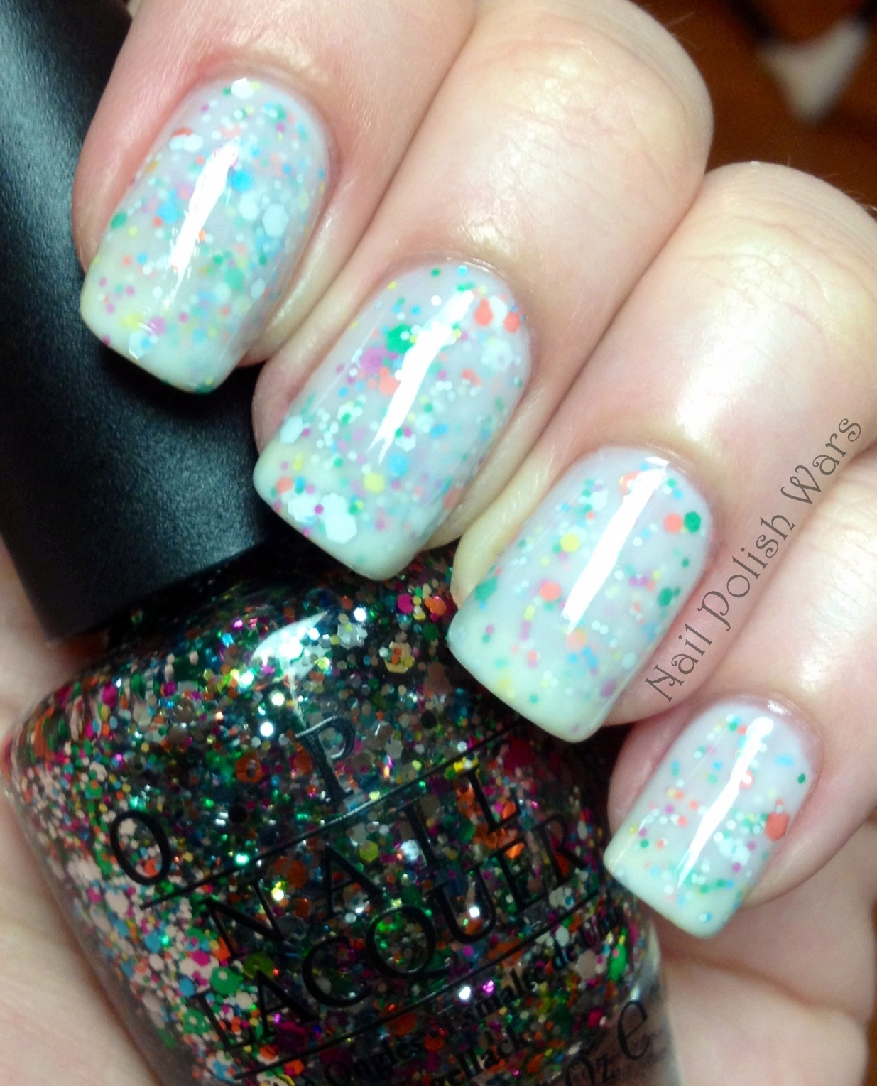 Birthday Cake Nails: Nail Polish Wars: Birthday Cake Fun-fetti
