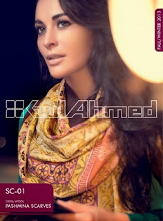 Gul Ahmed Pashmina Scarves for Womens