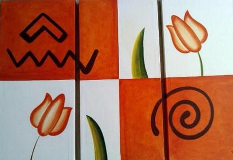Cuadros modernos pinturas y dibujos flores pintadas - Lo ultimo en cuadros modernos ...