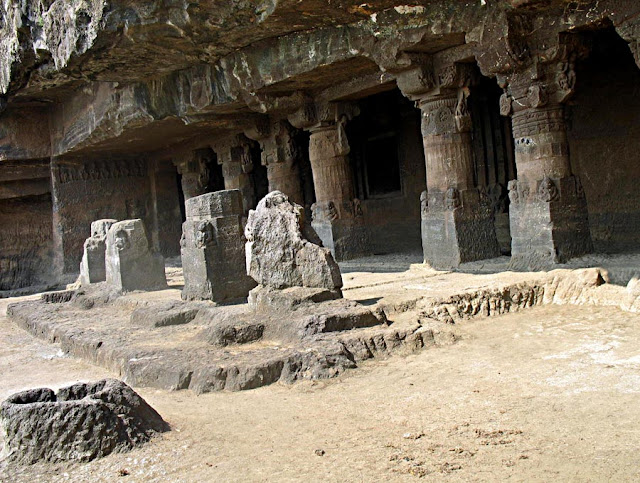 exterior of Aurangabad Caves
