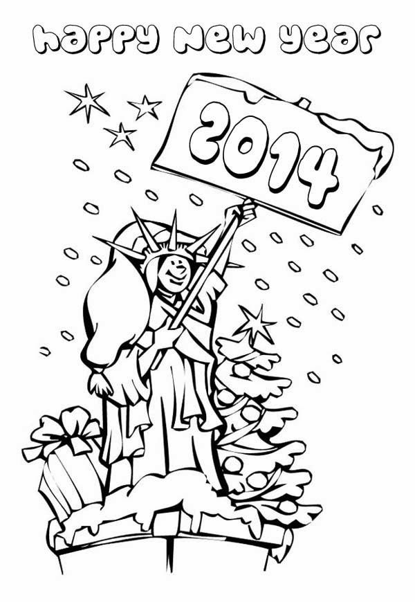 ImagesListcom Happy New Year 2014 for Coloring