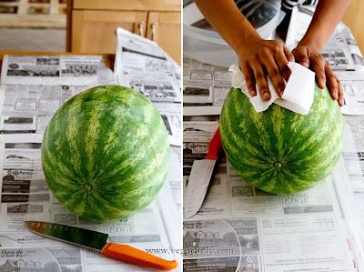 Cómo hacer una tarta con una sandía en Recicla Inventa
