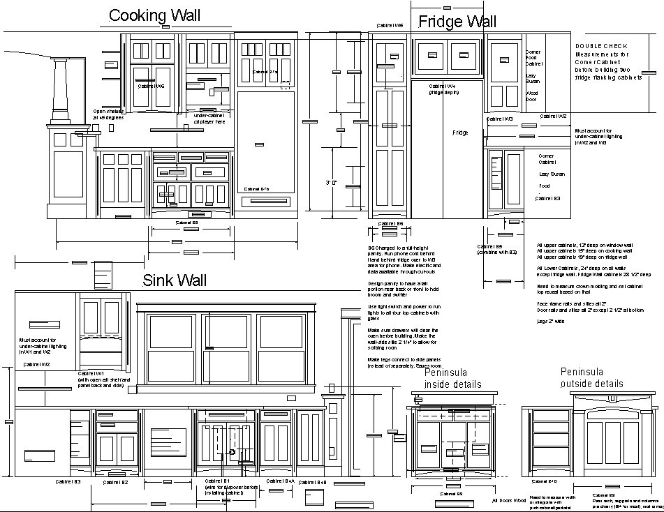 Kitchen CabiDrawing Plans