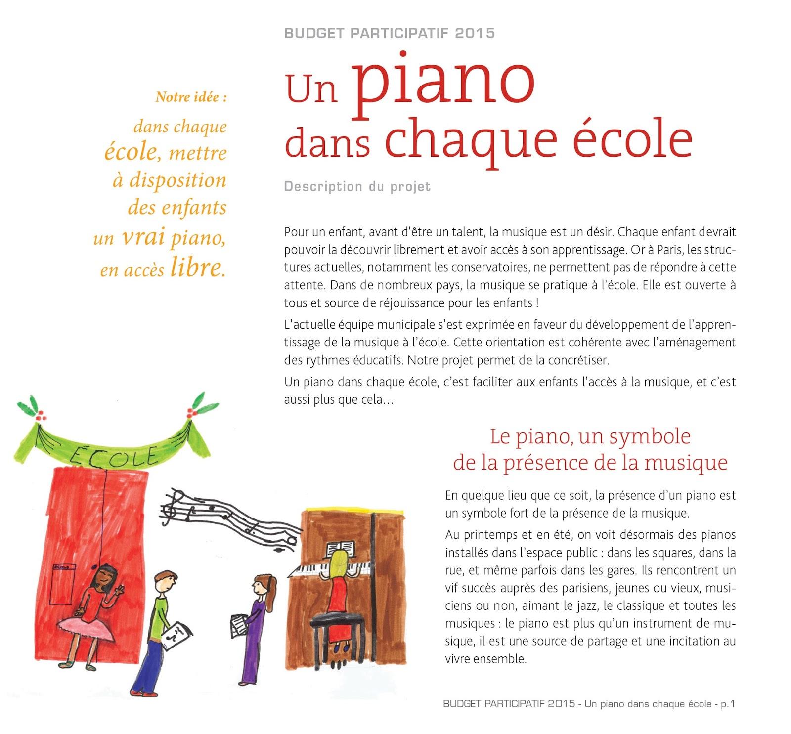 Parents pour la musique un piano dans chaque cole - Un piano dans la theiere ...