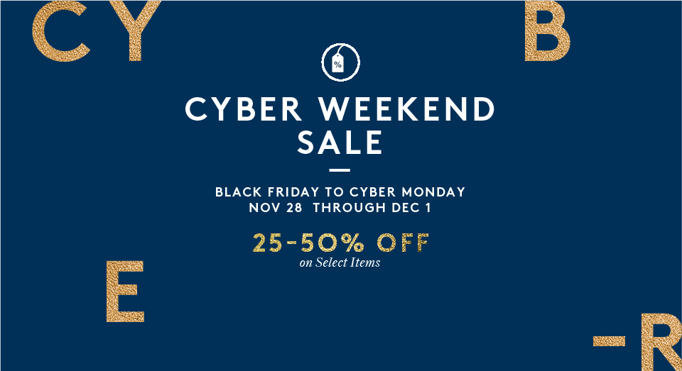 BLACK FRIDAY TO CYBPER MONDAY SALE