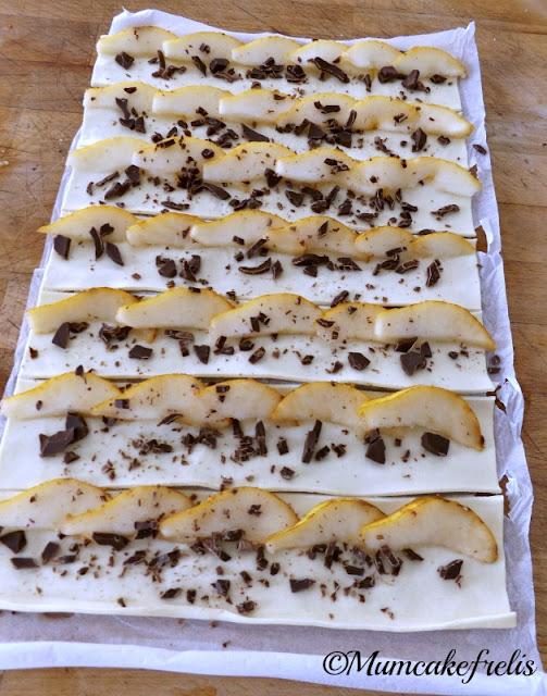 Roselline pere e cioccolato