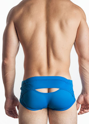GBGB Mens Underwear Mike Trunk Light Blue Back