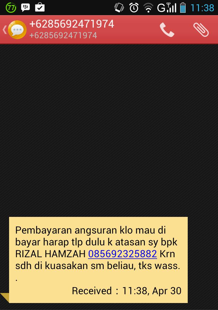 Penipu SMS sok kenal