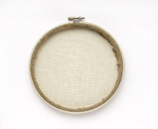 DIY hoop art