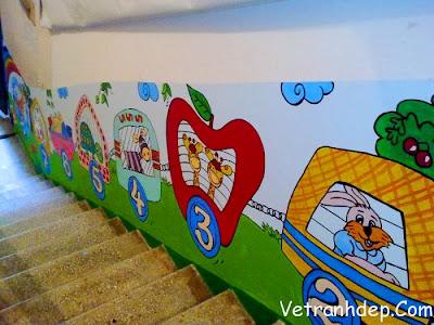 vẽ tranh tường mầm non ,tranh tường mẫu giáo đẹp