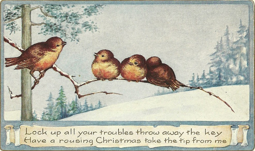 to send you happy holiday wishes i thought id share some vintage postcards with a few sweet heartfelt sentiments these are all from the early 1900s