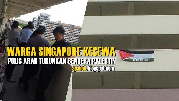 Warga Singapore Diarah Polis Turunkan Bendera Palestin 8 Gambar
