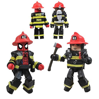 New York Comic-Con 2011 Exclusive Spider-Man New York Firefighter Minimates 2 Pack